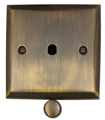 G&H SAB11-PK Spectrum Plate Antique Bronze 1 Gang Dimmer Plate Only inc Dimmer Knobs